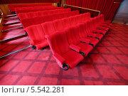 Купить «Кресла в зале кинотеатра», фото № 5542281, снято 4 сентября 2012 г. (c) Losevsky Pavel / Фотобанк Лори