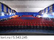"""Купить «Кинотеатр """"Нева"""". Пустой зал с рядами сидений и диванами», фото № 5543245, снято 9 ноября 2012 г. (c) Losevsky Pavel / Фотобанк Лори"""