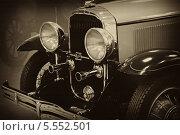 Фрагмент ретро автомобиля Buisk 44, модель 120, 1929 год (2010 год). Редакционное фото, фотограф Алексей Горбунов / Фотобанк Лори