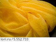 Купить «Фон из желтой ткани», фото № 5552733, снято 14 августа 2013 г. (c) Morgenstjerne / Фотобанк Лори
