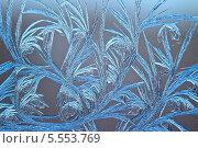 Купить «Морозный узор на стекле», фото № 5553769, снято 25 января 2014 г. (c) Валерий Бочкарев / Фотобанк Лори