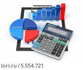 Купить «Калькулятор на графиках и даиграммах», иллюстрация № 5554721 (c) Maksym Yemelyanov / Фотобанк Лори