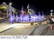 Израиль. Нетания. Цветной фонтан (2013 год). Редакционное фото, фотограф Леонид Чернышов / Фотобанк Лори