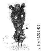 Мышь сыщик. Стоковая иллюстрация, иллюстратор Инна Багаева / Фотобанк Лори