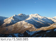 Вид с перевала Архонский. Республика Северная Осетия – Алания. Стоковое фото, фотограф Daria / Фотобанк Лори