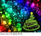 Абстрактный фон с новогодней елкой. Стоковая иллюстрация, иллюстратор Светлана Шаповалова / Фотобанк Лори