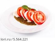 Салат с соусом песто. Стоковое фото, фотограф Денис Афонин / Фотобанк Лори
