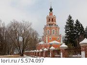 Церковь Спаса Нерукотворного в Уборах, фото № 5574097, снято 4 февраля 2014 г. (c) Борис Заманский / Фотобанк Лори