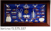 Купить «Декоративная коллекция морских узлов», фото № 5575337, снято 4 августа 2010 г. (c) Наталия Македа / Фотобанк Лори