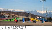 Купить «Олимпийский парк, Сочи», фото № 5577217, снято 7 февраля 2014 г. (c) Юлия Бабкина / Фотобанк Лори