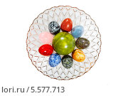 Каменные разноцветные яйца в вазе. Стоковое фото, фотограф Рашид Валитов / Фотобанк Лори