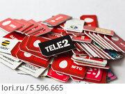 Купить «SIM-карты», фото № 5596665, снято 18 января 2014 г. (c) Sashenkov89 / Фотобанк Лори