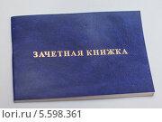Купить «Синяя зачетная книжка», фото № 5598361, снято 16 февраля 2014 г. (c) Иван Карпов / Фотобанк Лори