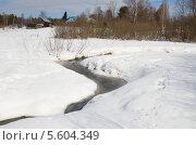 Купить «Весенний сельский пейзаж», эксклюзивное фото № 5604349, снято 9 апреля 2013 г. (c) Елена Коромыслова / Фотобанк Лори