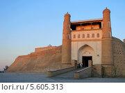 Крепость Арк на закат. Город Бухара, Узбекистан (2008 год). Стоковое фото, фотограф Opra / Фотобанк Лори