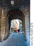 Франция, Альпы, г. Бриансон, старинные городские ворота (2013 год). Редакционное фото, фотограф Владимир Федечкин / Фотобанк Лори