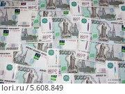 Тысячные купюры. Стоковое фото, фотограф Дмитрий Груздов / Фотобанк Лори
