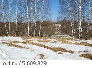 Купить «Весенний сельский пейзаж», эксклюзивное фото № 5609829, снято 16 апреля 2013 г. (c) Елена Коромыслова / Фотобанк Лори