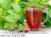 Купить «Компот и ягоды свежей малины», фото № 5612081, снято 24 июня 2013 г. (c) Володина Ольга / Фотобанк Лори