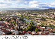 Купить «Панорама вечернего Тбилиси. Грузия», фото № 5612825, снято 3 июля 2013 г. (c) Евгений Ткачёв / Фотобанк Лори