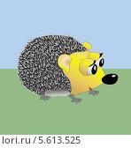 Забавный ежик. Стоковая иллюстрация, иллюстратор Мария Борисова / Фотобанк Лори
