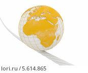 Купить «Земной шар катится по веревке», иллюстрация № 5614865 (c) Maksym Yemelyanov / Фотобанк Лори