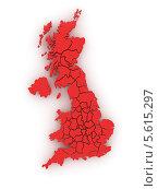 Купить «Трехмерная карта Великобритании», иллюстрация № 5615297 (c) Maksym Yemelyanov / Фотобанк Лори