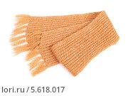 Купить «Вязаный желтый шарф», фото № 5618017, снято 6 ноября 2013 г. (c) lanych / Фотобанк Лори