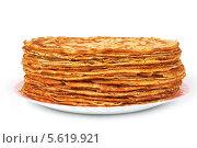 Купить «Блины на тарелке», эксклюзивное фото № 5619921, снято 22 февраля 2014 г. (c) Юрий Морозов / Фотобанк Лори