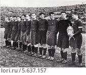 Купить «Старое фото команды ЦДКА 1948 года», фото № 5637157, снято 26 мая 2019 г. (c) Sashenkov89 / Фотобанк Лори
