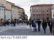 Купить «Площадь Трех мучеников (Piazza Tre Martiri). Римини. Италия», фото № 5643041, снято 3 ноября 2013 г. (c) Евгений Ткачёв / Фотобанк Лори