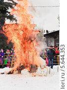 Купить «Сжигание чучела Масленицы на ВВЦ (ВДНХ)», эксклюзивное фото № 5644353, снято 17 марта 2013 г. (c) Алёшина Оксана / Фотобанк Лори