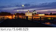 Купить «Вид на Софийский собор и звонницу ночью, Великий Новгород», фото № 5648029, снято 18 июня 2019 г. (c) Зезелина Марина / Фотобанк Лори