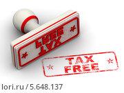 Купить «Без налоговых сборов. Печать и оттиск», иллюстрация № 5648137 (c) WalDeMarus / Фотобанк Лори