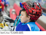 Купить «Юный хоккеист», фото № 5649685, снято 28 апреля 2012 г. (c) Losevsky Pavel / Фотобанк Лори