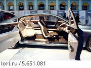 Купить «Демонстрация интерьера нового автомобиля на выставке Volvo Fashion Week в Москве», фото № 5651081, снято 8 апреля 2012 г. (c) Losevsky Pavel / Фотобанк Лори