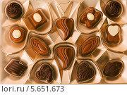 Купить «Ассорти из шоколадных конфет», фото № 5651673, снято 13 декабря 2011 г. (c) Losevsky Pavel / Фотобанк Лори