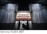 Вид на зрительный зал со сцены театра Вахтангова (2012 год). Стоковое фото, фотограф Losevsky Pavel / Фотобанк Лори