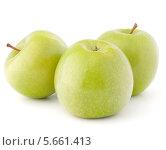 Купить «Три зеленых яблока», фото № 5661413, снято 13 марта 2012 г. (c) Natalja Stotika / Фотобанк Лори