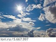 Купить «Небесный пейзаж», фото № 5667997, снято 29 июня 2012 г. (c) Наталья Волкова / Фотобанк Лори