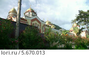 Новоафонский монастырь. Стоковое видео, видеограф Александр Плетюшкин / Фотобанк Лори