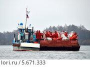 Корабль на реке  Оке (2013 год). Редакционное фото, фотограф Сергей Рудаков / Фотобанк Лори