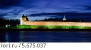 Купить «Вид на Новгородский Кремль ночью», фото № 5675037, снято 18 июня 2019 г. (c) Зезелина Марина / Фотобанк Лори