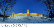 Купить «Новгородский кремль зимней ночью, Великий Новгород», фото № 5675145, снято 18 июня 2019 г. (c) Зезелина Марина / Фотобанк Лори