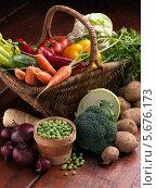 Купить «изобилие различных овощей», фото № 5676173, снято 25 ноября 2010 г. (c) Food And Drink Photos / Фотобанк Лори