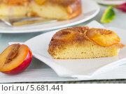 Купить «Кусок сливого пирога», фото № 5681441, снято 29 октября 2013 г. (c) Kozlova Elena / Фотобанк Лори