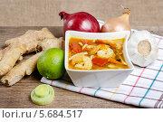 Горячий тайский суп. Стоковое фото, агентство BE&W Photo / Фотобанк Лори