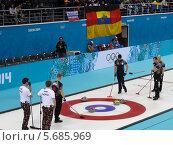 Купить «Керлинг. Сочи. Олимпийские игры 2014», фото № 5685969, снято 22 февраля 2014 г. (c) Корчагина Полина / Фотобанк Лори