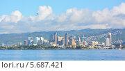 Вид на Гонолулу, Гавайи (2014 год). Стоковое фото, фотограф Алексей Кокоулин / Фотобанк Лори