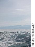 Лед Байкала. Стоковое фото, фотограф Ева Наделяева / Фотобанк Лори